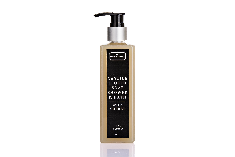 WILD CHERRY :Castile Liquid Soap 240 ML