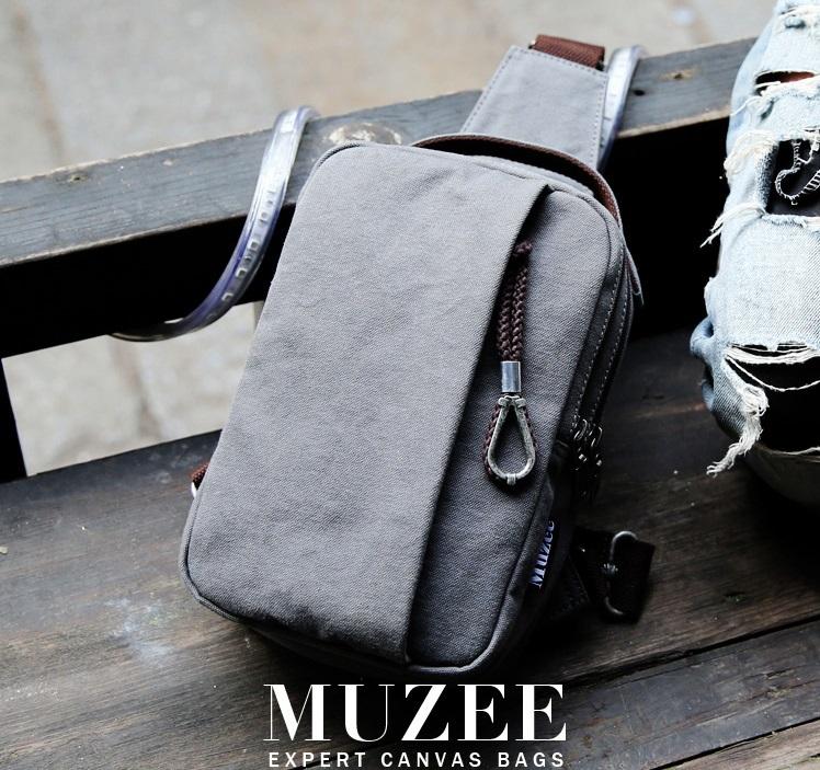 กระเป๋าคาดอกผู้ชาย MUZEE CANVAS