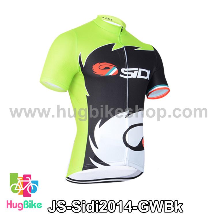 เสื้อจักรยานแขนสั้นทีม Sidi 14 สีเขียวดำขาว สั่งจอง (Pre-order)