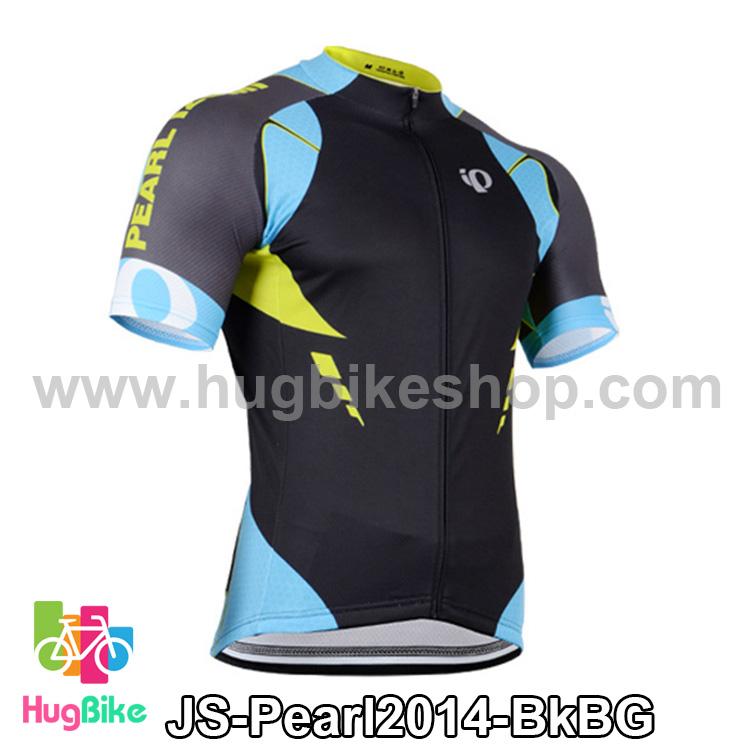 เสื้อจักรยานแขนสั้นทีม Pearl Izumi 2014 สีดำฟ้าเทา สั่งจอง (Pre-order)