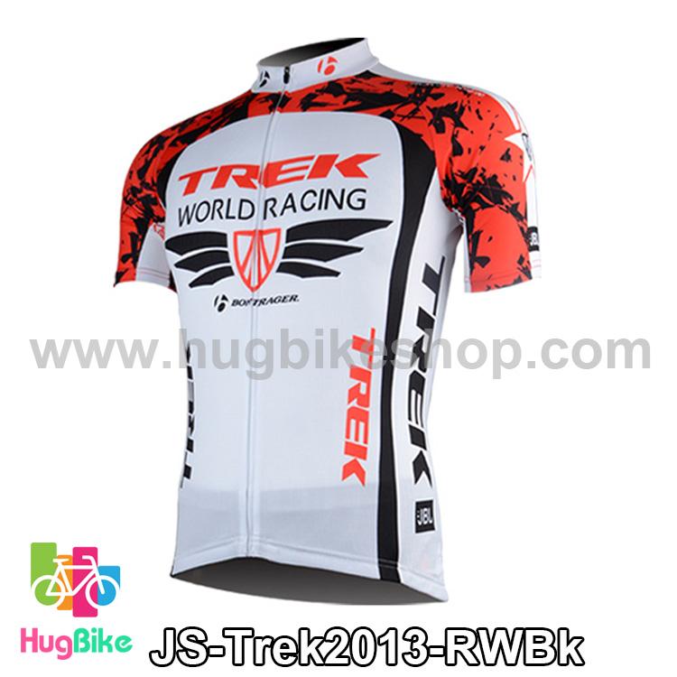 เสื้อจักรยานแขนสั้นทีม Trek 13 สีแดงขาวดำ สั่งจอง (Pre-order)