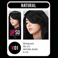 ดิ๊พโซ่ ไวเบรนซี่ ฉฮร์ คัลเลอร์ V01 สีดำธรรมชาติ เอ็น 1/0 Natural Black N 1/0