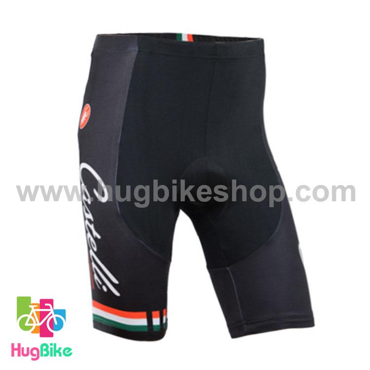 กางเกงจักรยานขาสั้นทีม Castelli 14 (02) สีดำ