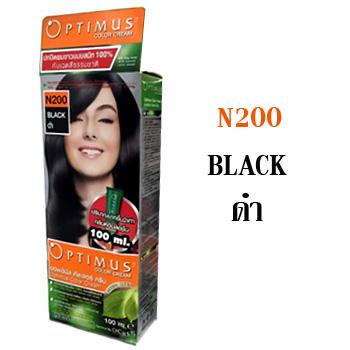 ดีแคช ออพติมัส คัลเลอร์ ครีม Optimus color Cream N200 Black ดำ 100 ml.