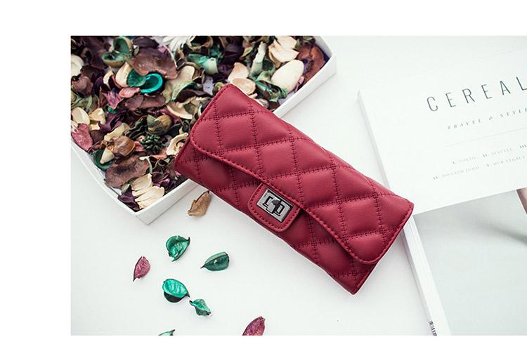 กระเป๋าสตางค์หนังแกะ linly red