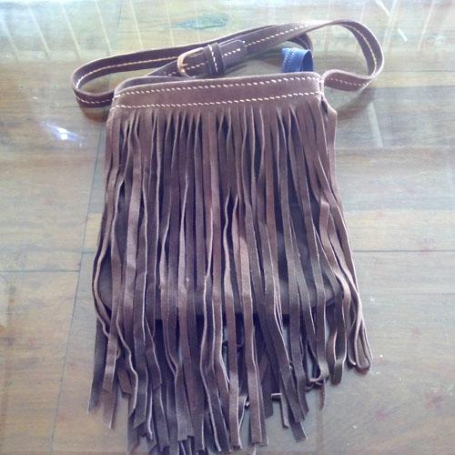 กระเป๋าหนังแท้อินเดียนสไตล์ (Handmade)