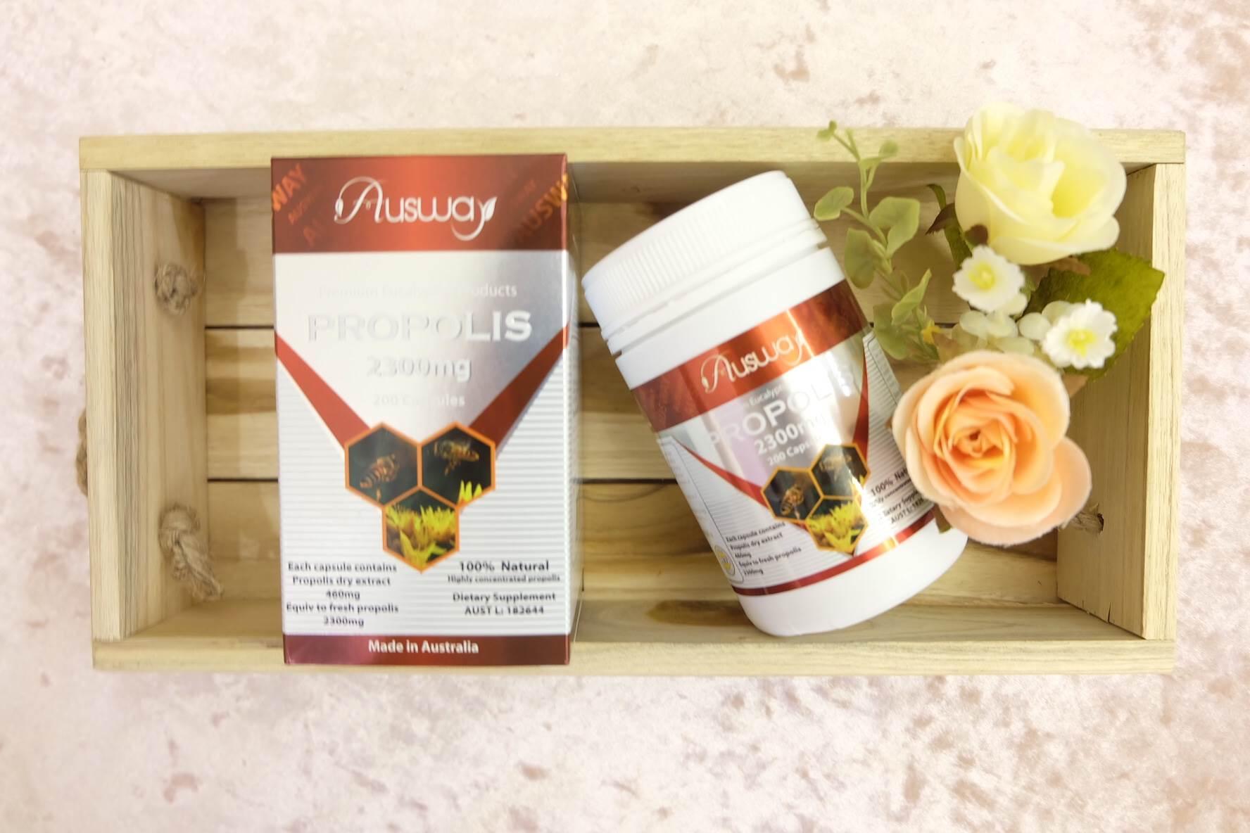 Ausway propolis 2300mg สารมหัศจรรย์ธรรมชาติจากรวงผึ้งโดสสูง ลดสิวลดภูมิแพ้ ร่างกายแข็งแรง ของแท้จากออสเตรเลีย