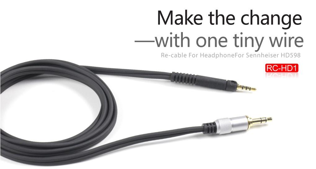 ขาย FiiO RC-HD1สายเปลี่ยนหูฟังแบบ 2.5mm To 3.5mm สำหรับหูฟัง Sennheiser HD598 หรือ ยี่ห้ออื่นๆที่ใช้แจ๊คแบบ2.5mm