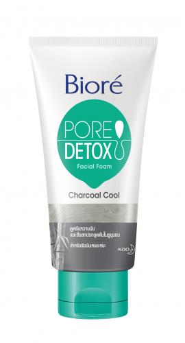 บิโอเร Biore Pore Detox Charcoal Cool Facial Foam 100 g.