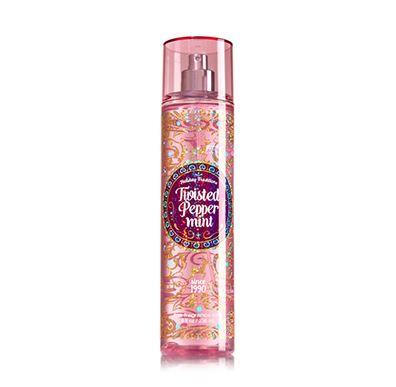 **พร้อมส่ง**Bath & Body Works Twisted Peppermint Fine Fragrance Mist 236 ml. สเปร์ยน้ำหอมที่ให้กลิ่นติดกายตลอดวัน กลิ่นผลแพร์ผสมกับเมล่อน และแต่งปลายกลิ่นให้หอมนุ่มขึ้นด้วยกลิ่นมัคส์คะ ,