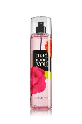 **พร้อมส่ง**Bath & Body Works Mad about You Fine Fragrance Mist 236 ml. สเปร์ยน้ำหอมที่ให้กลิ่นติดกายตลอดวัน ด้วยกลิ่นผลไม้แบรคเคอเรนท์ ผสมกับดอกมะลิ และกลิ่นมัควนิลลาอ่อนๆ หอมละมุนสดชื่นมากคะ ,