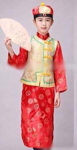 ชุดจีน ฮ่องเต้ สีทอง-แดง