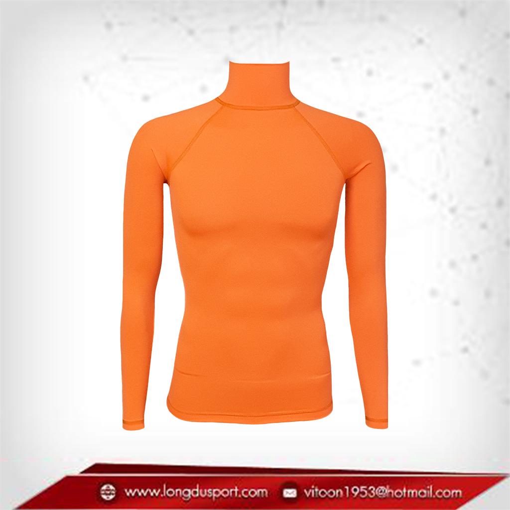 เสื้อรัดรูป Bodyfit แขนยาวคอตั้ง สีส้ม darkorange