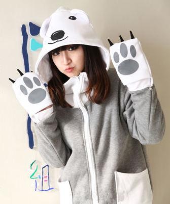 ชุดคอสเพลย์หญิงแฟชั่น Shirokuma Cafe คาเฟ่คุณหมีขาว แนวแจ็กเก็ตน่ารัก