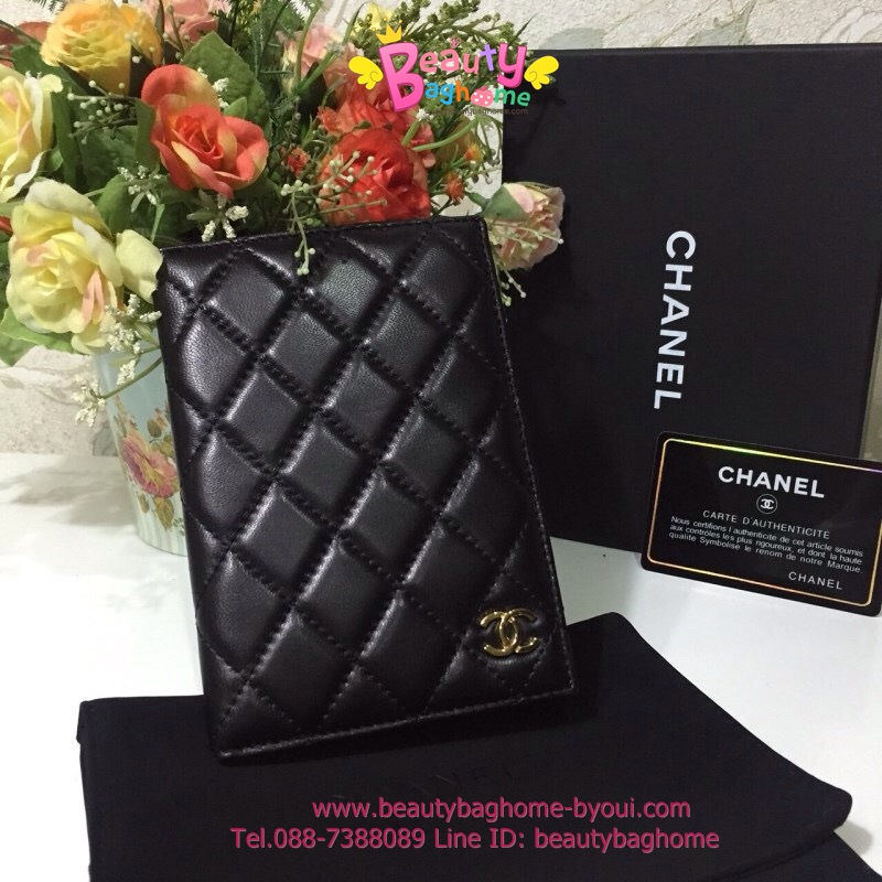 Chanel Passport Holder สีดำ งานTOP MIRRORเกาหลีระดับHiend