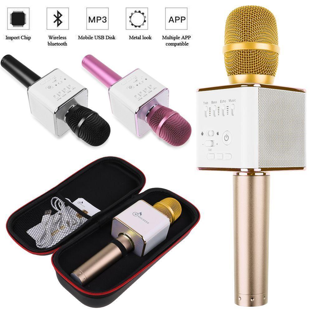 ไมค์คาราโอเกะ บลูทูธ ไร้สาย Karaoke Bluetooth Microphone รุ่น Q9