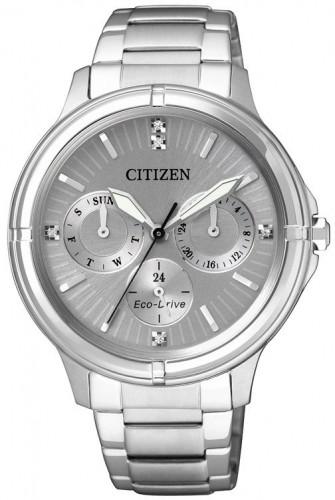 นาฬิกาข้อมือผู้หญิง Citizen Eco-Drive รุ่น FD2030-51H, Swarovski Crystal Multi Dial Elegant