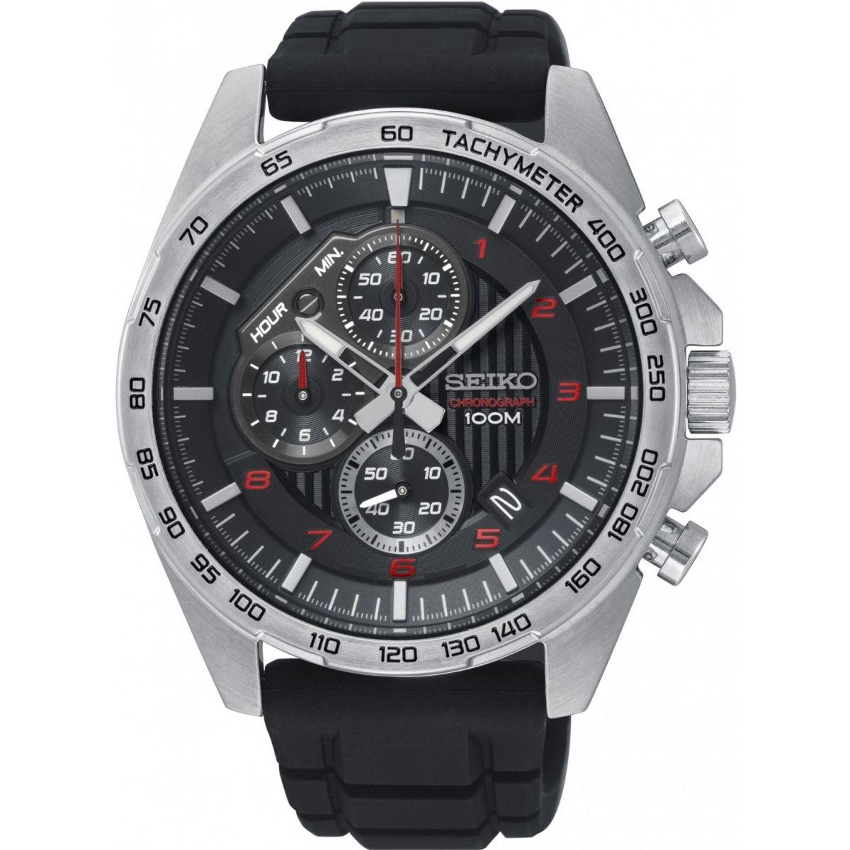 นาฬิกาผู้ชาย Seiko รุ่น SSB325P1, Motosport Chronograph Tachymeter Men's Watch