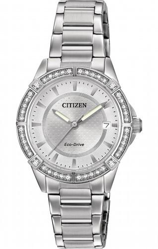 นาฬิกาผู้หญิง Citizen Eco-Drive รุ่น FE6060-51A, POV Swarovski Elegant
