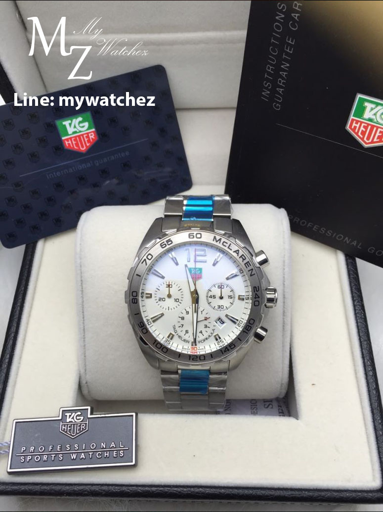 Tag Heuer Formula 1 Mclaren Chronograph 43MM - Stainless White Dial