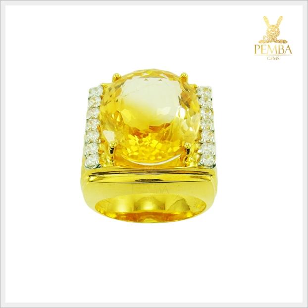 แหวนพลอยซิทรินแท้ แหวนพลอยสวยๆ (สามารถสั่งทำได้ค่ะ)
