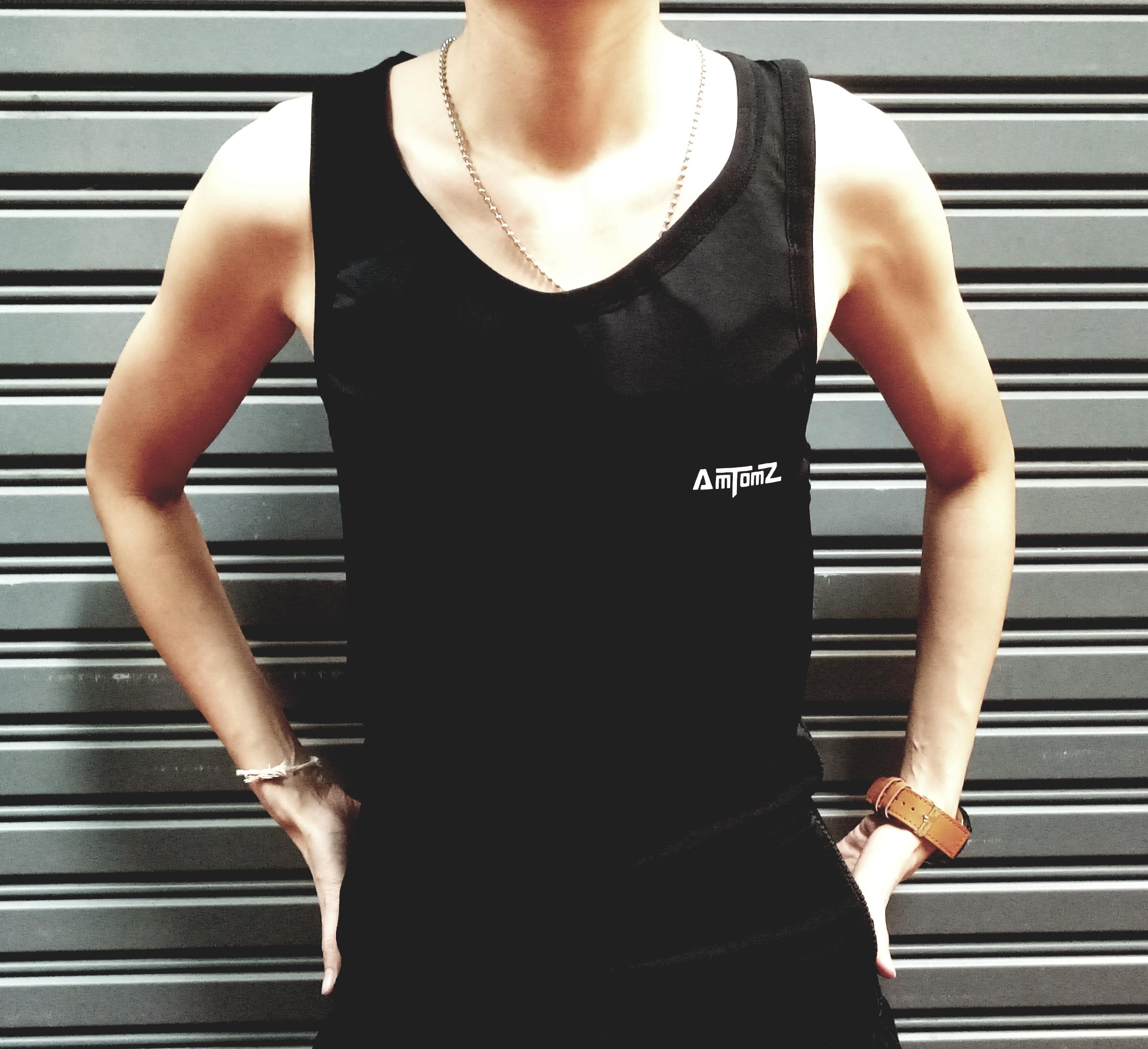 เสื้อกล้ามทอม Long Dri-Cool (สีดำ)