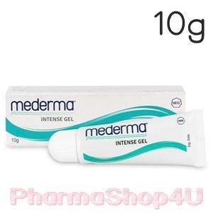 Mederma Intense Gel 10g มีเดอร์ม่า เจลลบรอยแผลเป็น ชนิดนูนและคีลอยด์ที่ได้จากการผ่าตัด อุบัติเหตุไฟไหม้ น้ำร้อนลวก หลุมสิว