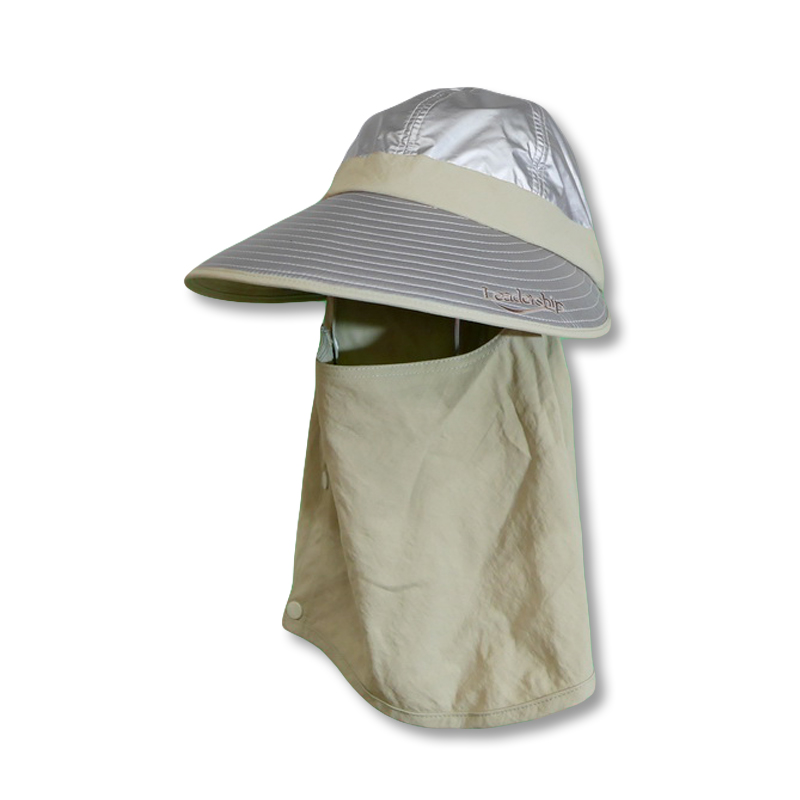 หมวกกันUV กันยูวี ทรงแก๊ป หมวกปิดหน้า ปิดคอ สีเบจ by Season Tales