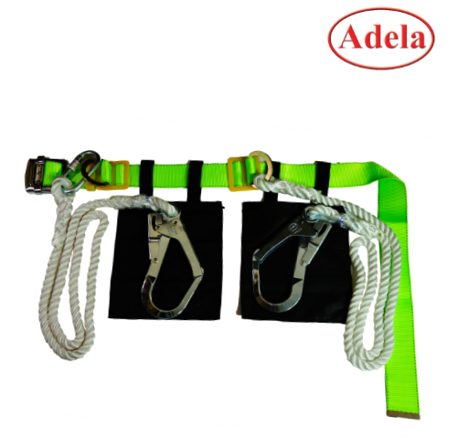 เข็มขัดนิรภัย Safety Belt Large Hook Adela Double Rope Lanyard