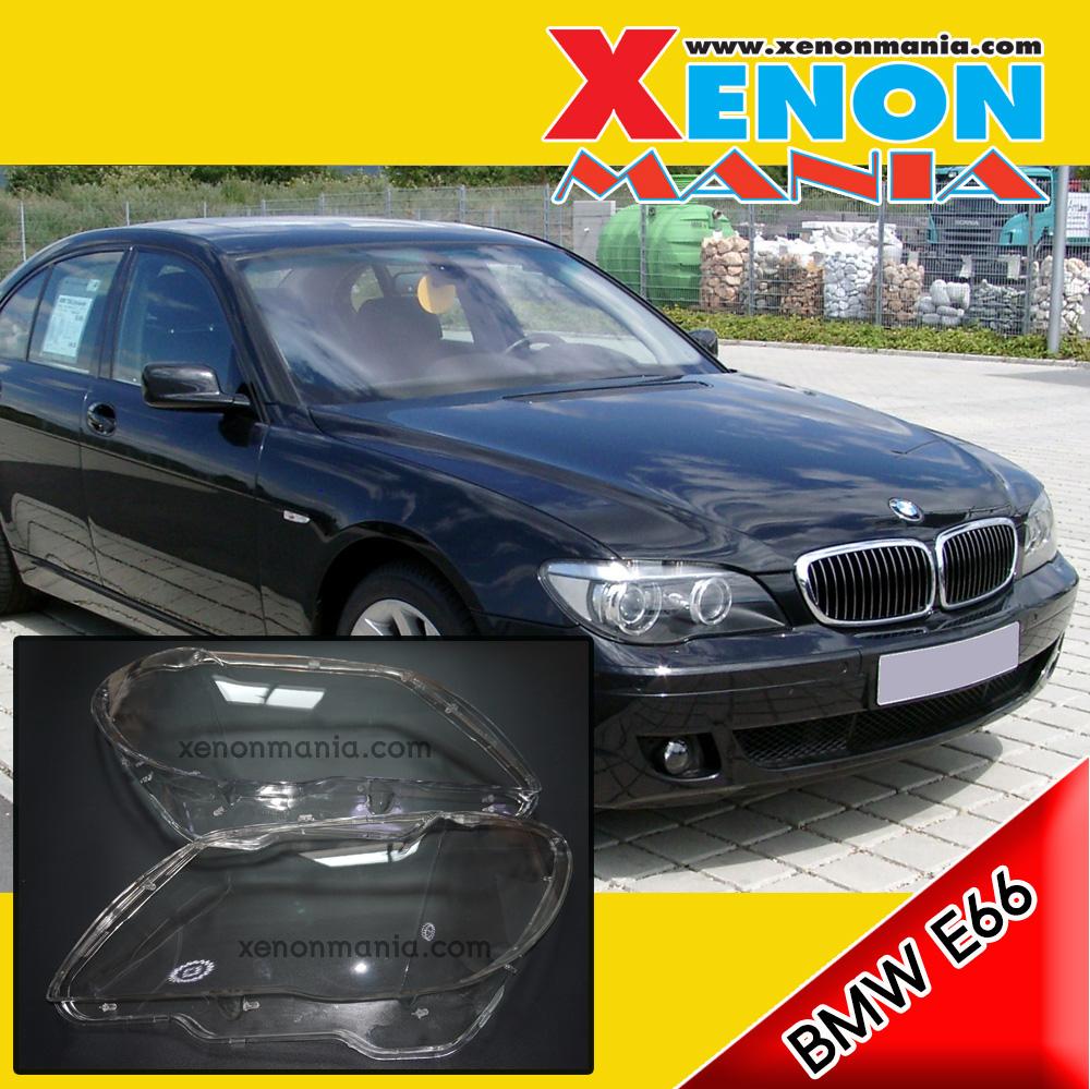 พลาสติกครอบเลนส์ไฟหน้า ฝาครอบไฟหน้า ไฟหน้ารถยนต์ เลนส์โคมไฟหน้า BMW E66