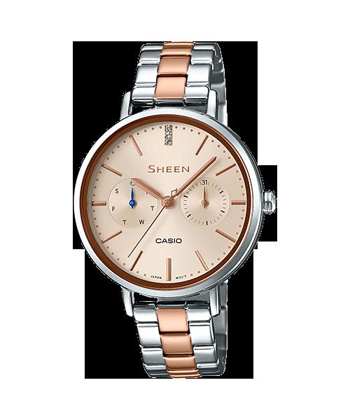 นาฬิกา คาสิโอ Casio SHEEN MULTI-HAND รุ่น SHE-3054SPG-4A ของแท้ รับประกัน1ปี
