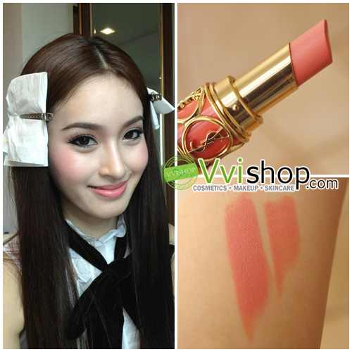 YSL Yves Saint Laurent Rouge Volupte Silky Sensual Radiant Lipstick SPF15 # 13 Peach passion สีพีช ทาแล้วสวยมาก ทาได้ตลอดๆ (ขนาดปกติ Inbox) *พร้อมส่ง*