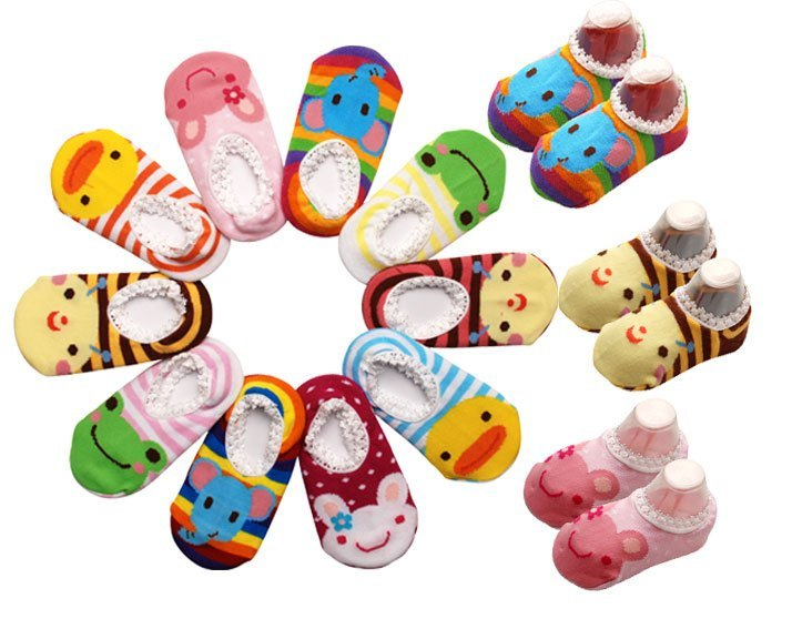 ถุงเท้าเด็กอ่อน รูปสัตว์น้อยน่ารัก มีกันลื่น
