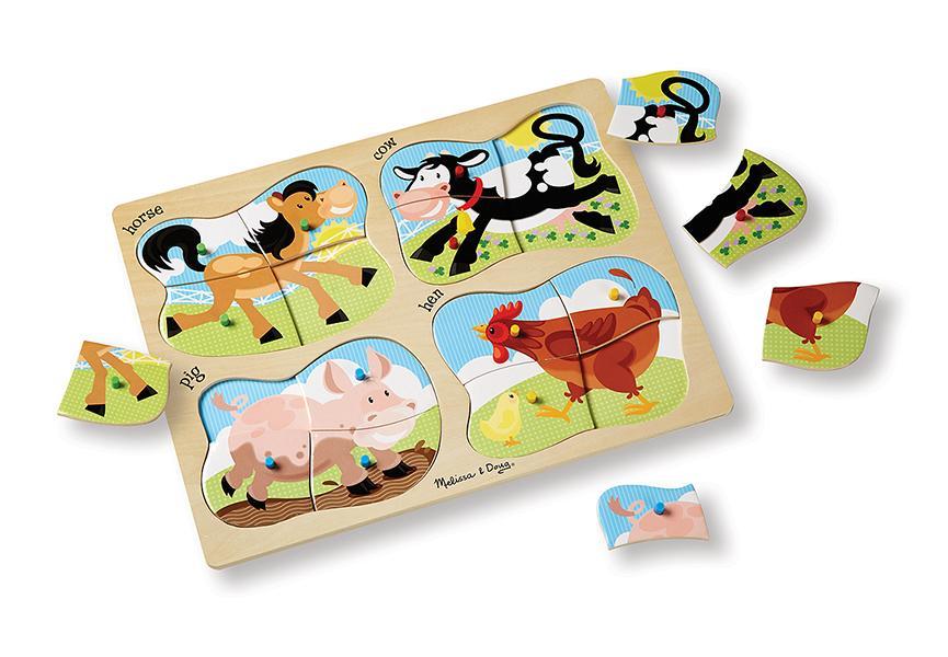 จิ๊กซอ 4-in-1 Farm Peg Puzzle