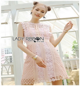 Lace Self-Portrait Mini Dress Lady Ribbon มินิเดรส