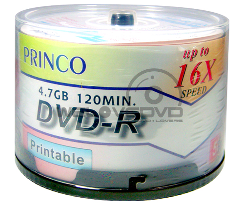 Princo DVD-R 16X Printable (50 pcs/Cake Box)