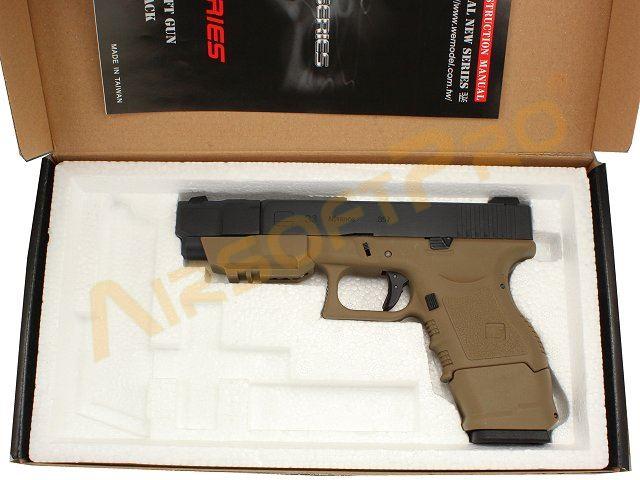 Glock33 Advance Gen3 WE ทูโทน สีทราย สไลด์ดำ