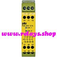PILZ 24VDC 2W CONTACT EXPANSION MODULE PZE X4V 3//24VDC 4n//o fix