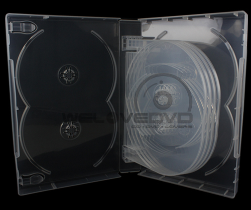 12 Disc DVD Case Clear (10 Boxs)