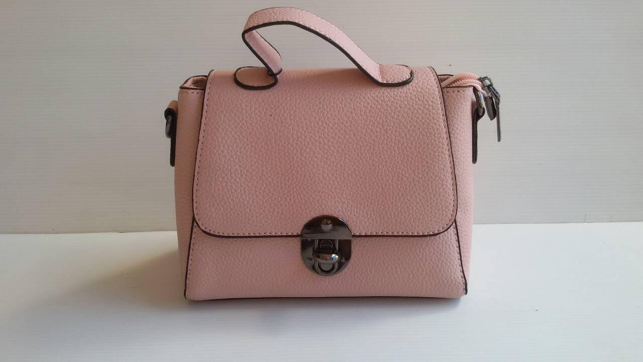 ํพร้อมส่ง กระเป๋าผู้หญิงถือและสะพายข้างใบเล็ก แฟชั่นเกาหลี รหัส Yi-01 สีชมพู