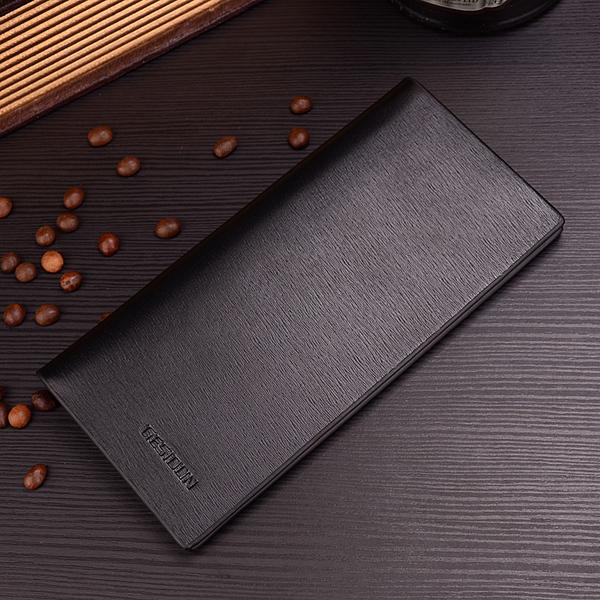 พร้อมส่ง กระเป๋าสตางค์นักธุรกิจผู้ชาย ใบยาว เรียบบาง ใส่บัตรเครดิตได้เยอะ แฟชั่นเกาหลี ยี่ห้อ GESIDUN รหัส DA-807-3 สีดำ