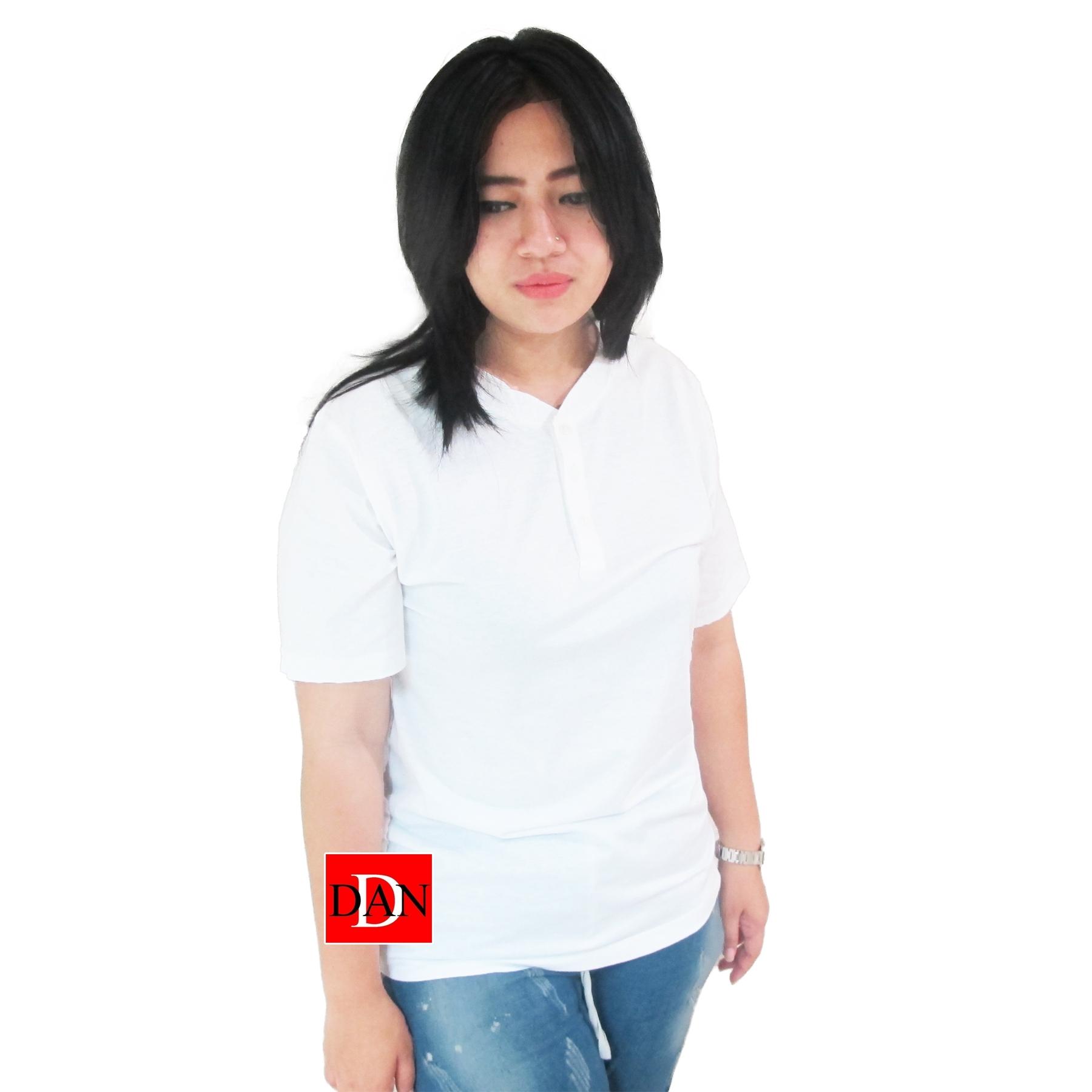 เสื้อยืดคอจีน Cotton100% L สีขาว