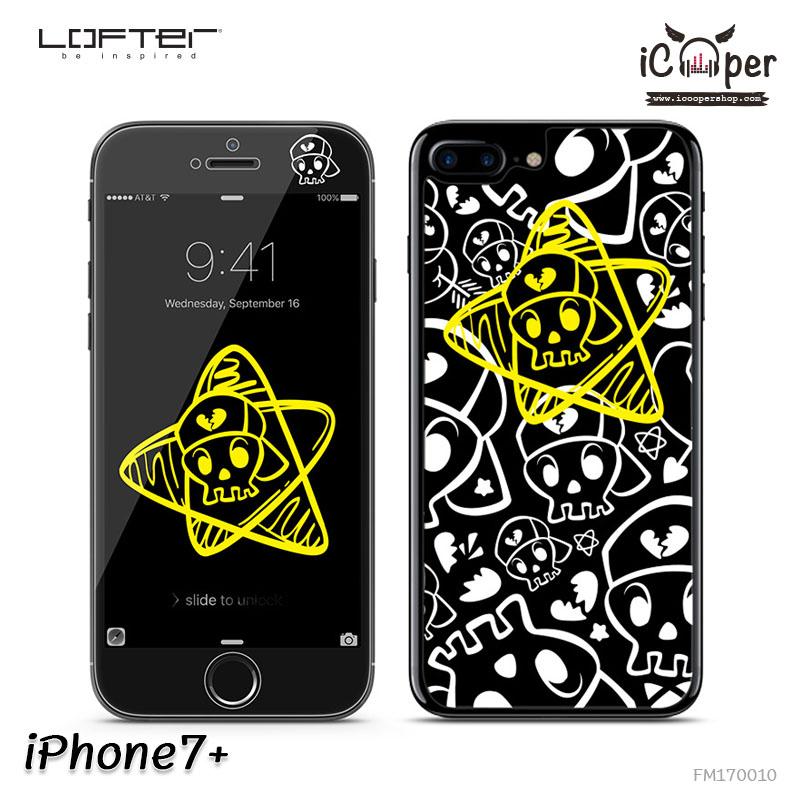 LOFTER Full Cover Glass - Skull (iPhone7+)
