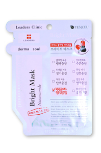 Leaders Clinic แผ่นมาร์สหน้า Bright Mask with niacinamide