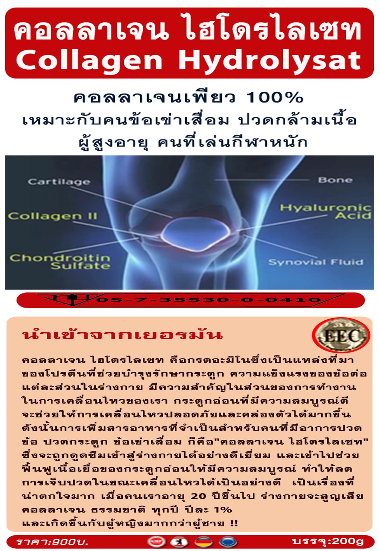 Collagen-Hydrolysat คอลลาเจนเพียว 100% จากเยอรมัน