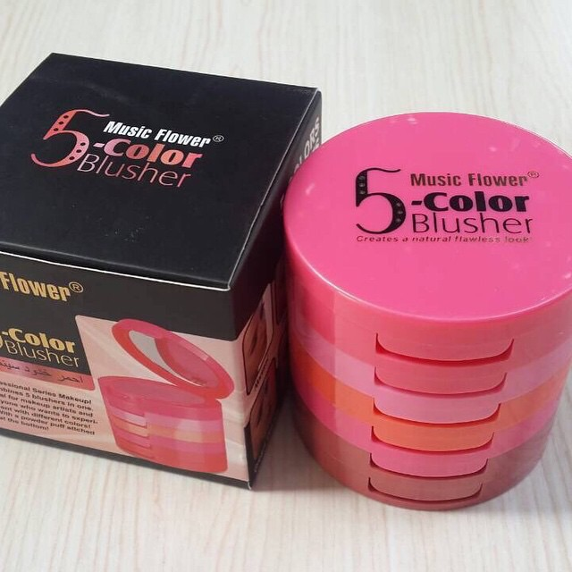 5-color Music Flower blusher บลัชออน