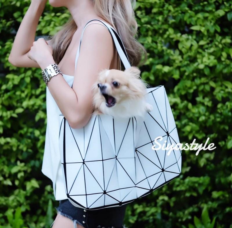 กระเป๋าสะพายแฟชั่น กระเป๋าสะพายข้างผู้หญิง Baobao crystal [สีขาว]