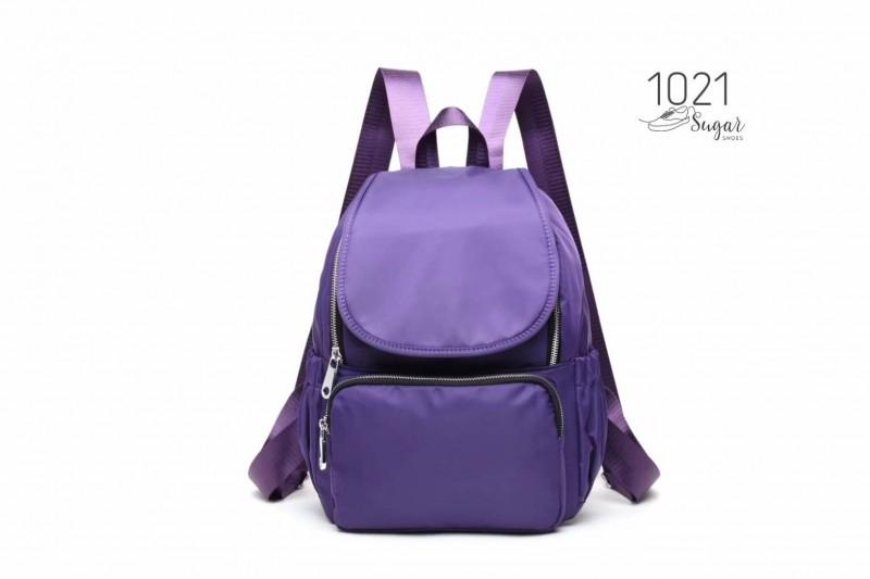 พร้อมส่ง กระเป๋าเป้ผ้าไนล่อนสไตล์ญี่ปุ่น-1021 [สีม่วง]