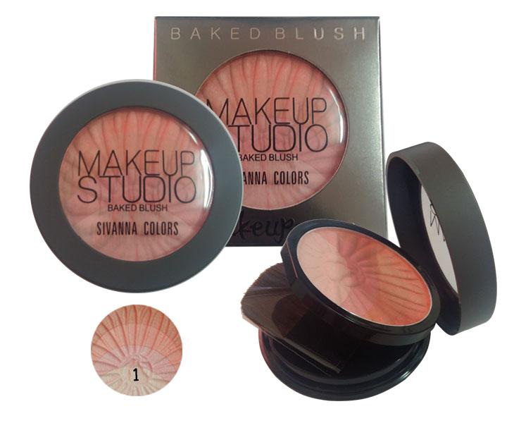 ปัดแก้ม Sivanna Colors Make up Studio Baked Blush No.1