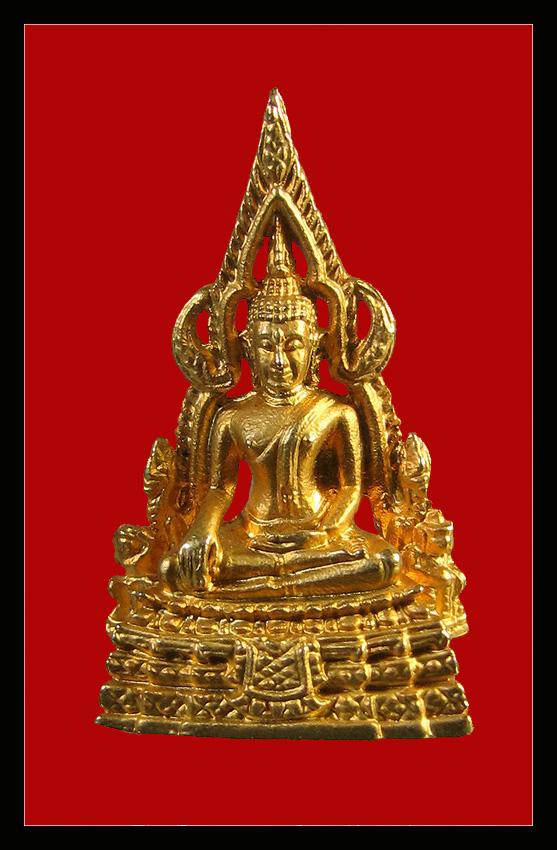 พระพุทธชินราช เนื้อกะไหล่ทอง หลวงพ่อคูณอธิฐานจิตปลุกเสก ปลุกเสกที่วัดบึงบา จังหวัดปทุมธานี + จารเดิมๆแท้ๆ กล่องเดิม